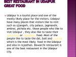 best restaurant in udaipur great food 1