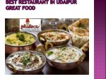 best restaurant in udaipur great food 2