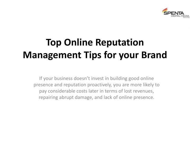 top online reputation management tips for your brand n.