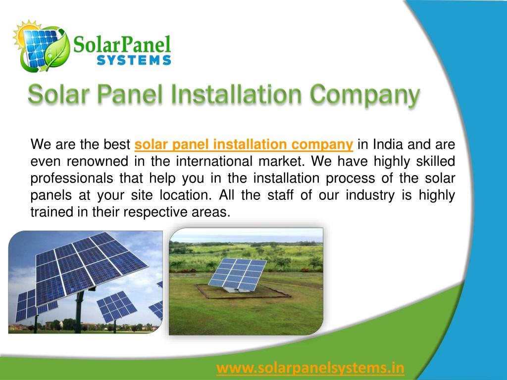 PPT - Solar Panel Systems, Solar Panel, Manufacturer