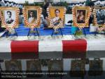 pictures of late king bhumibol adulyadej are seen