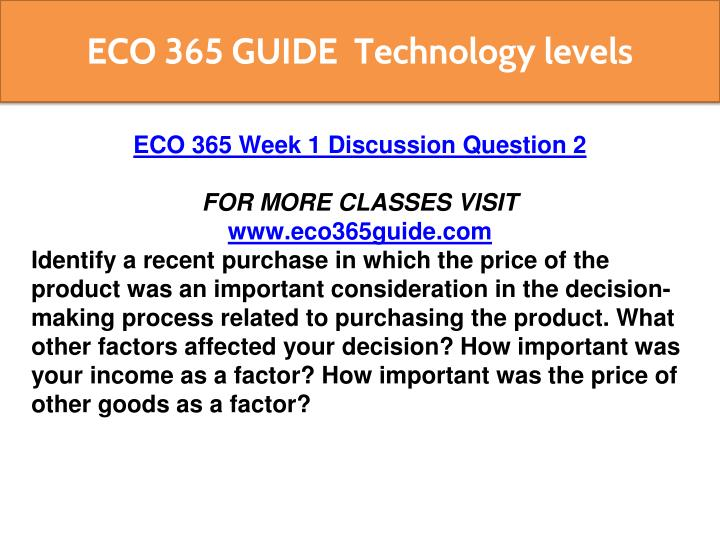 eco 365 If you want instant expert help for eco 365 final exam connect with student e help, the growing educational online platform of eco 365 final exam answer.