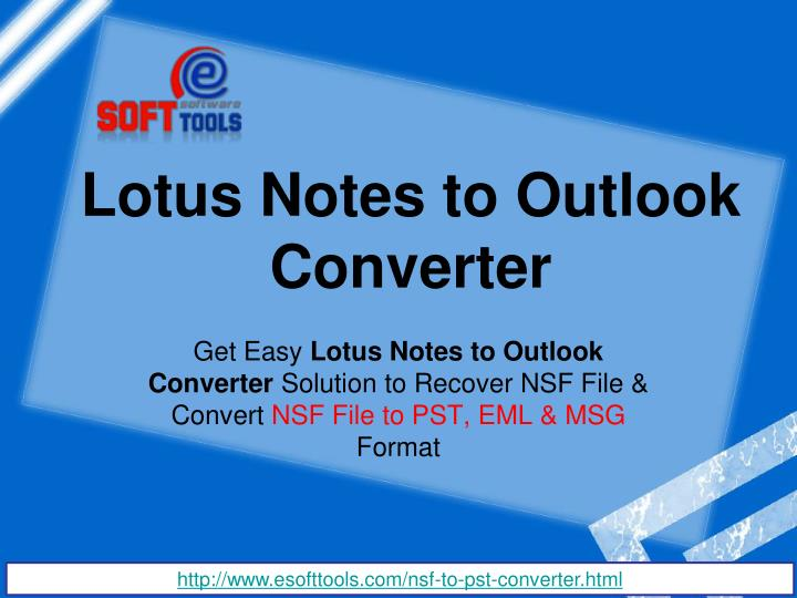 lotus notes to outlook converter n.