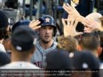 astros third baseman alex bregman celebrates
