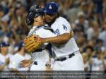 dodgers relief pitcher kenley jansen celebrates