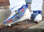 the cleats of dodgers right fielder yasiel puig