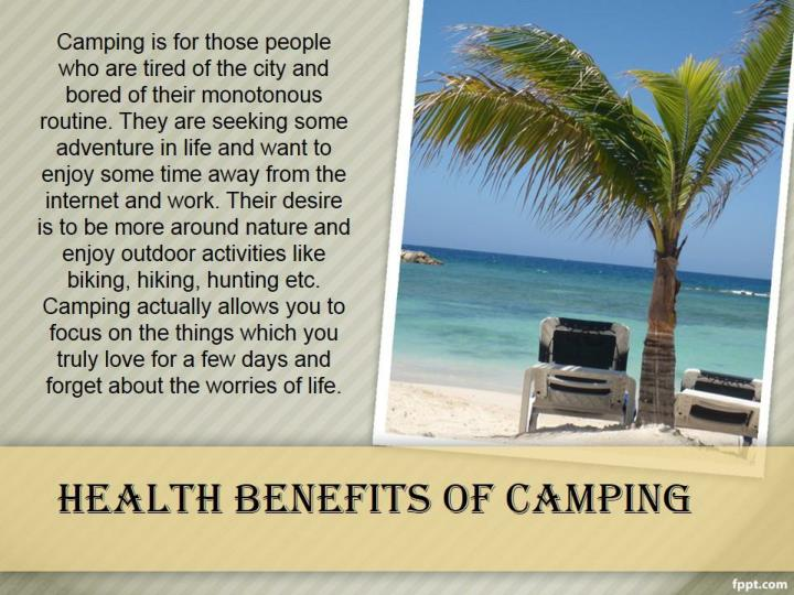 health benefits of camping n.