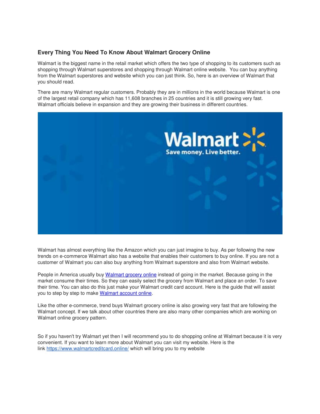 PPT - Every Thing You Need To Know About Walmart Grocery