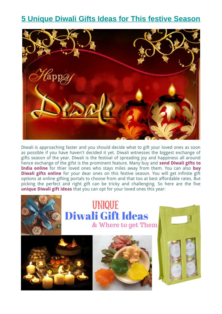 5 unique diwali gifts ideas for this festive n.