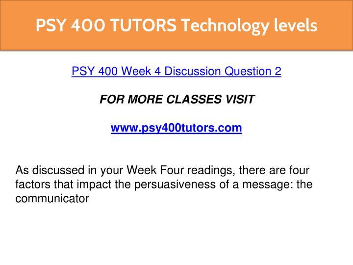 psy 400 week 4