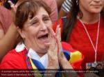 a woman reacts while the catalan regional