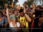 people celebrate after the catalan regional