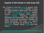 supplier of talc powder in india dubai uae 5