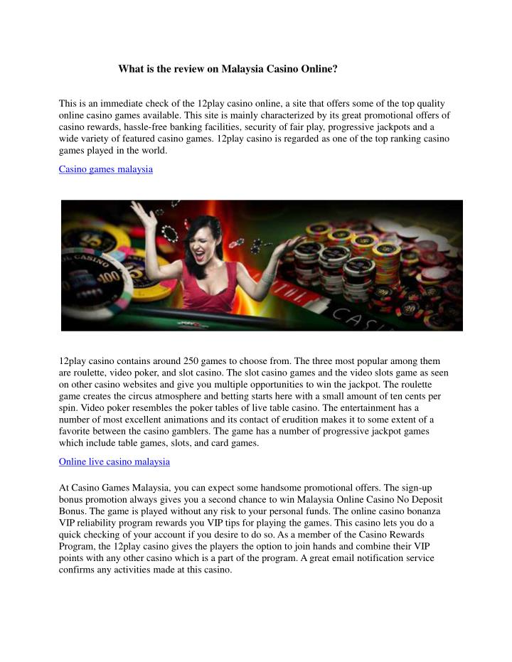 what is the review on malaysia casino online n.