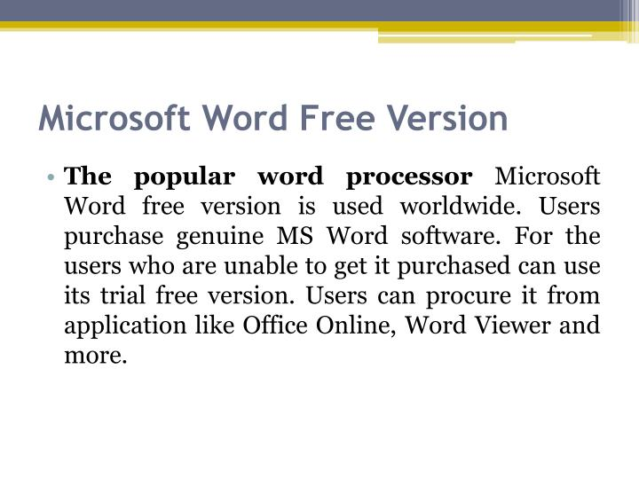 download microsoft word trial free