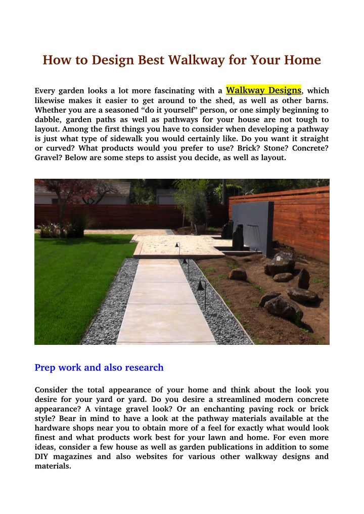 how to design best walkway for your home n.