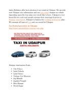 anita holidays offer best solution of car rental