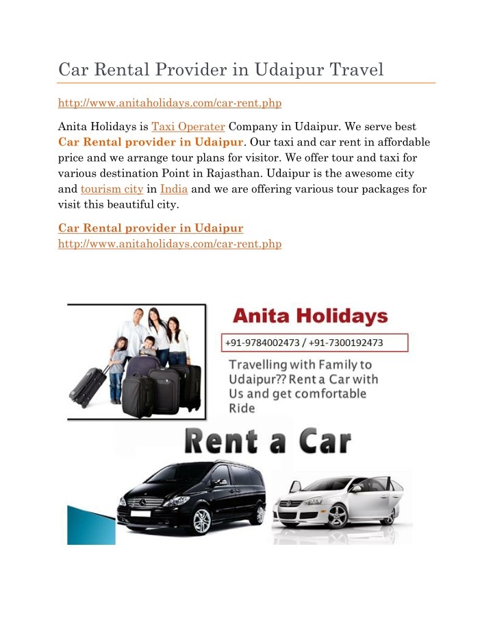 car rental provider in udaipur travel n.