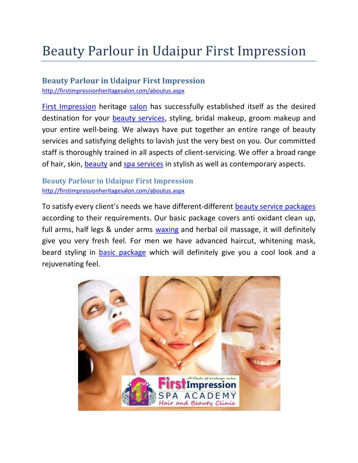 beauty parlour in udaipur first impression n.