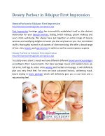 beauty parlour in udaipur first impression