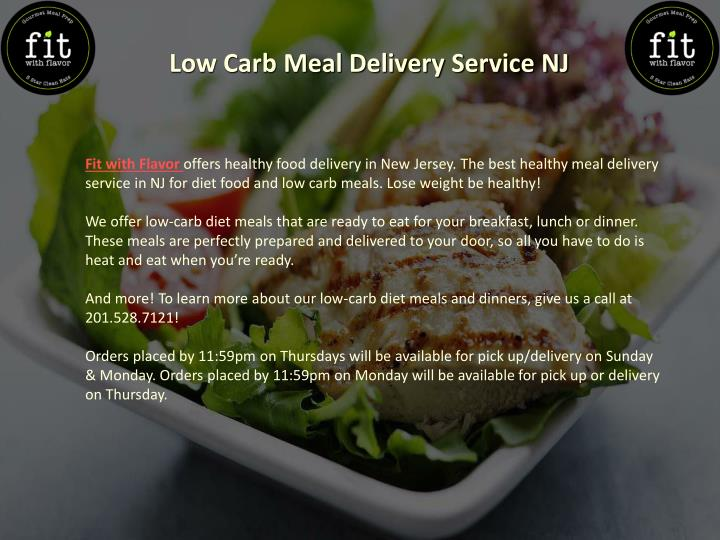 Ppt Low Carb Meals Delivered To Your Door Powerpoint Presentation