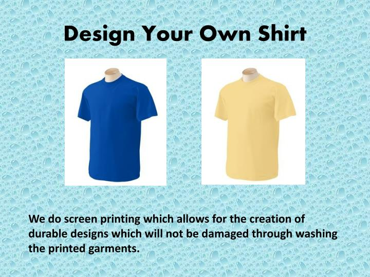 design your own shirt n.