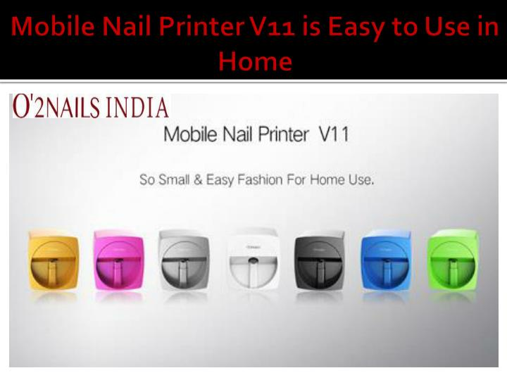 Mobile Nail Printer V11 Is Easy To Use In Home