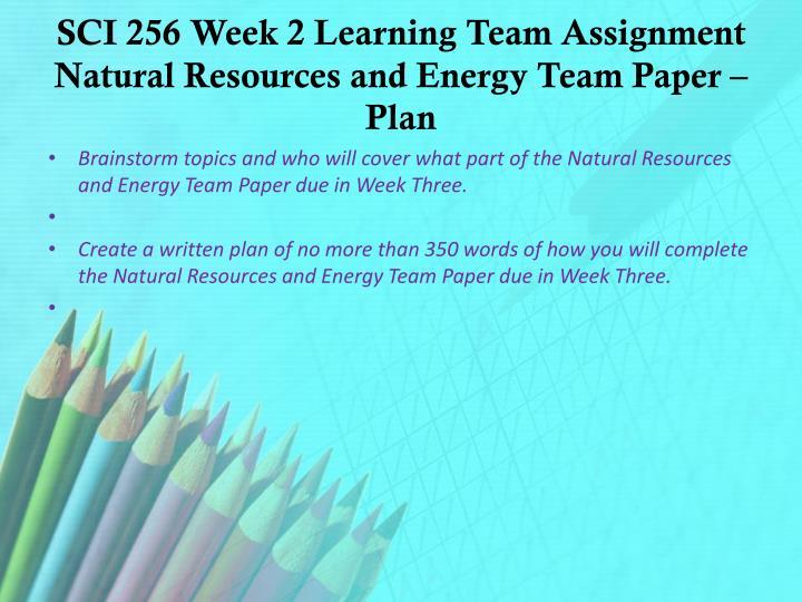 sci 256 week 2 paper