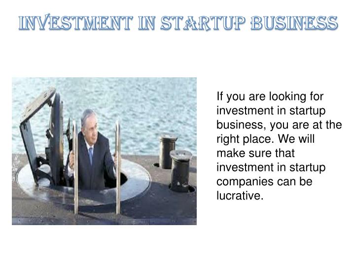investment in startup business n.