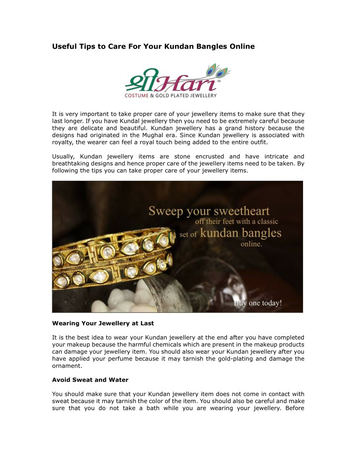 PPT - Tips to Care for Gold Plated Jewellery Online PowerPoint