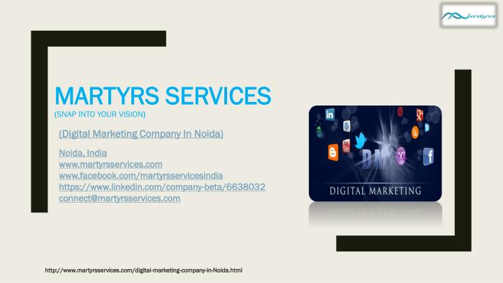 martyrs services snap into your vision n.