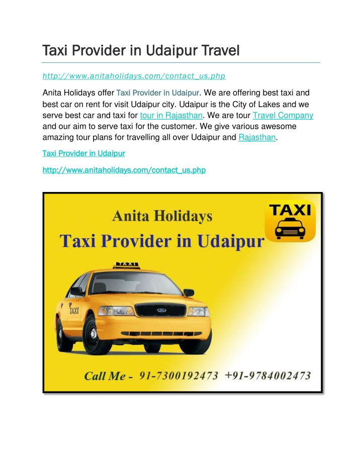 taxi provider in udaipur travel taxi provider n.