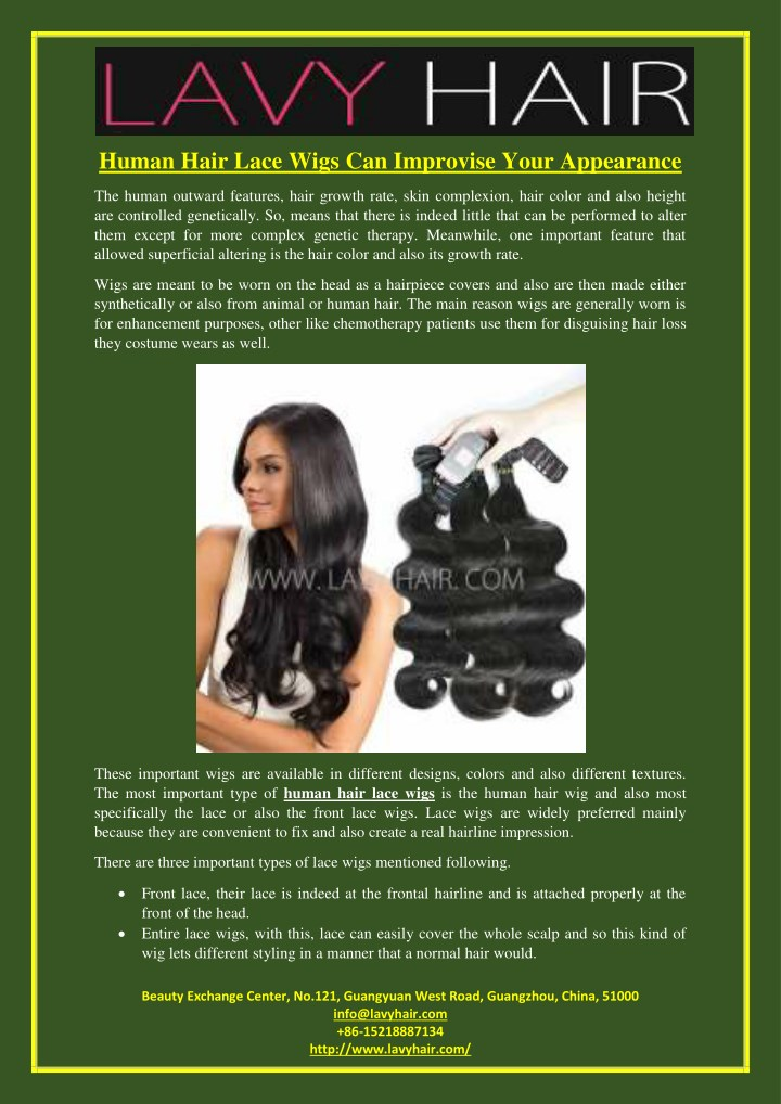 human hair lace wigs can improvise your appearance n.