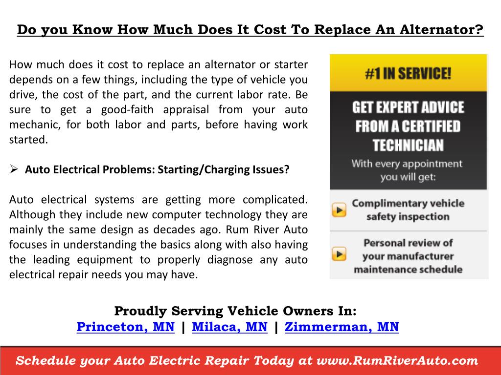 How Much Does An Alternator Cost >> Ppt How Much Does It Cost To Replace An Alternator Near