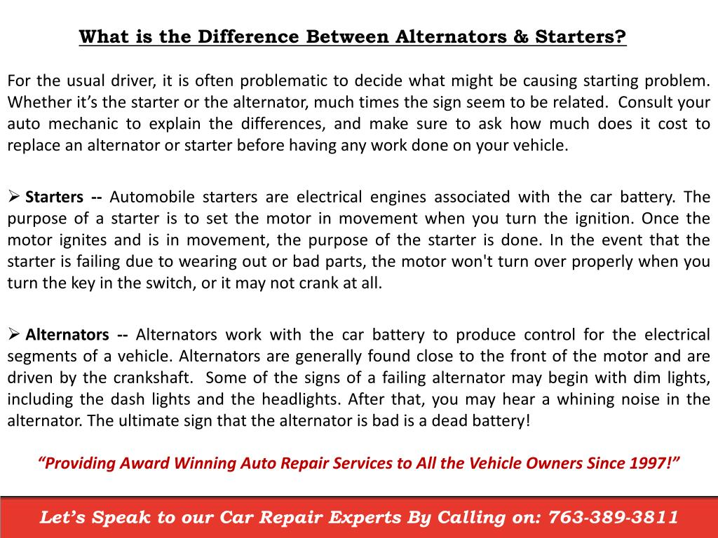 How Much Does It Cost To Replace An Alternator >> PPT - How Much Does It Cost To Replace An Alternator Near Princeton MN? PowerPoint Presentation ...