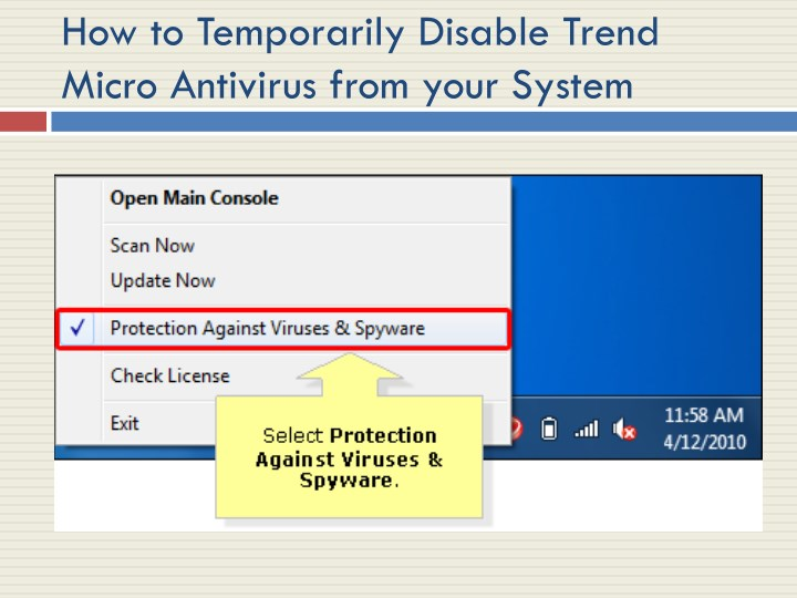 how to temporarily disable trend micro antivirus n.