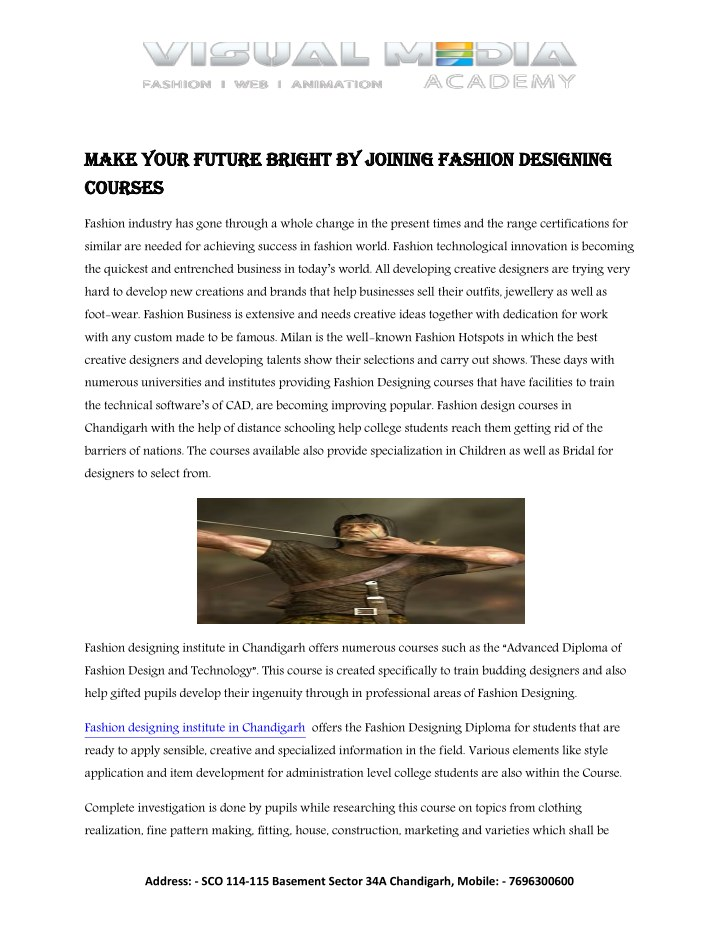 make your future bright by joining fashion n.
