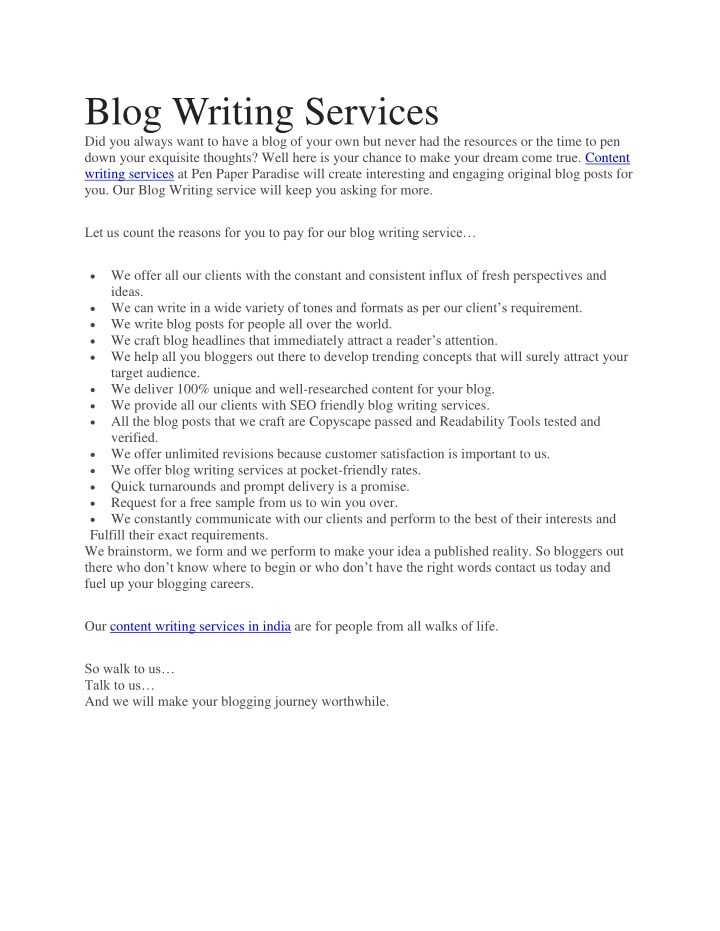 blog writing services did you always want to have n.