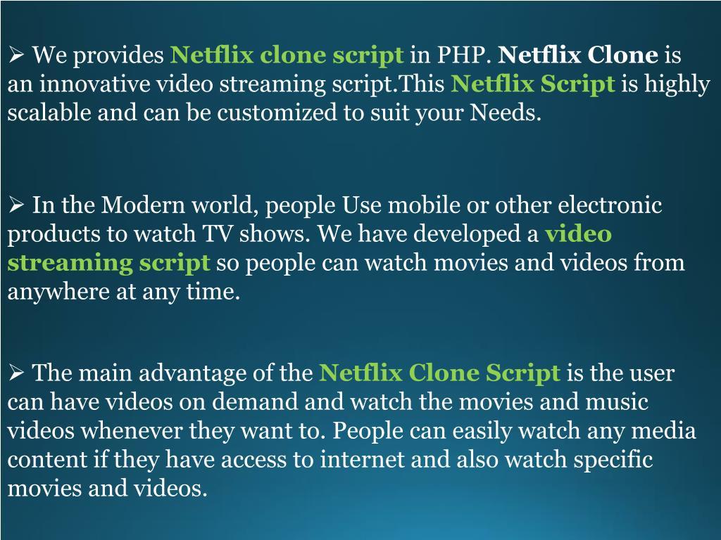 PPT - Netflix Clone | Netflix Script | Netflix Clone Script