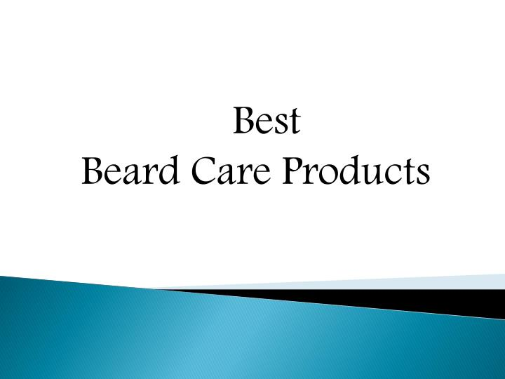 best beard care products n.