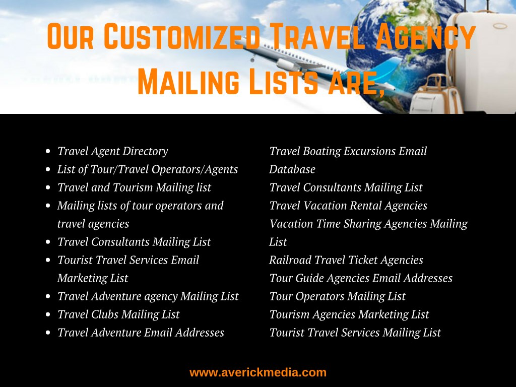 PPT - Travel Agency Email List PowerPoint Presentation - ID