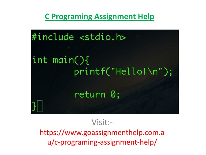 c programing assignment help n.