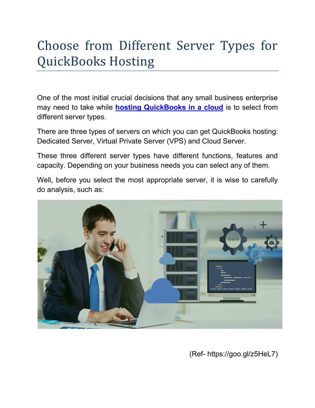 Ppt Choose From Different Server Types For Quickbooks Hosting