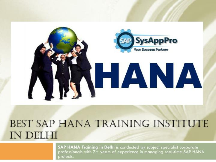 best sap hana training institute in delhi n.