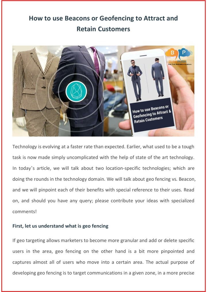 how to use beacons or geofencing to attract n.