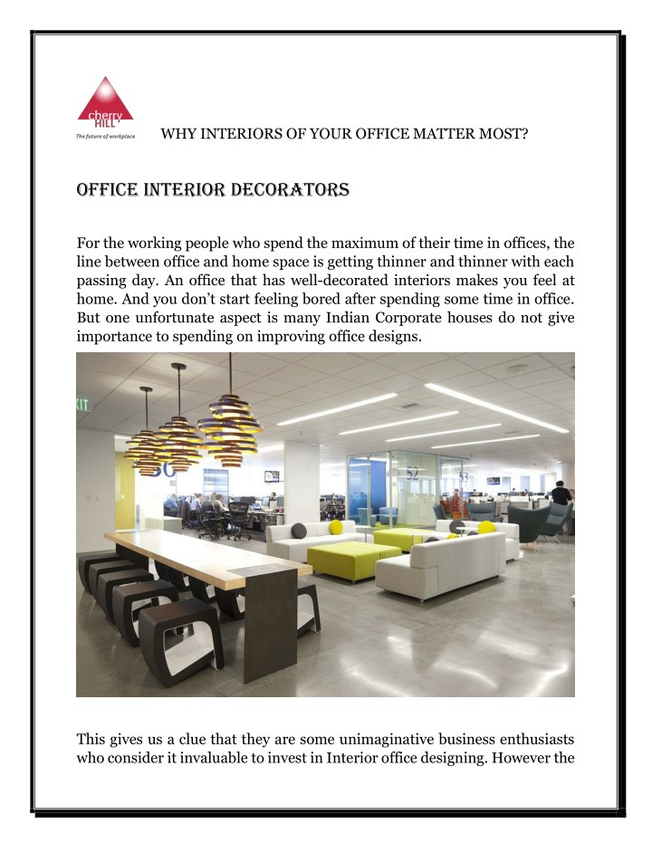 Ppt Why Interiors Of Your Office Matter Most Powerpoint Presentation Id 7737517