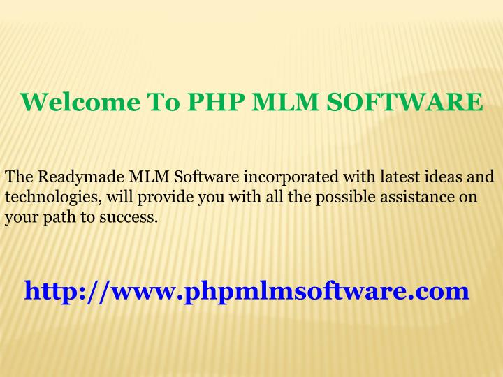 welcome to php mlm software n.