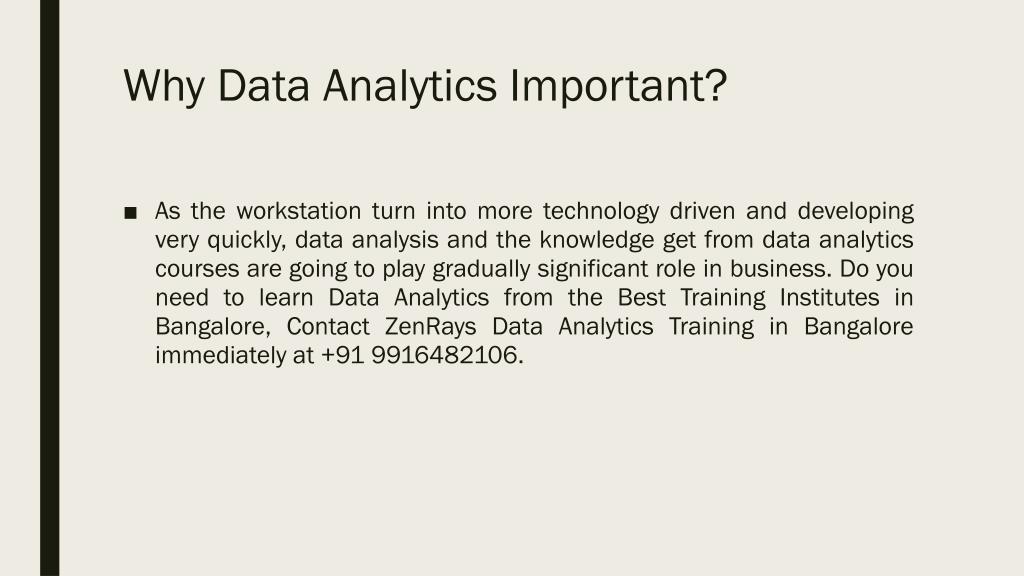 PPT - Data Analytics Training in Bangalore PowerPoint