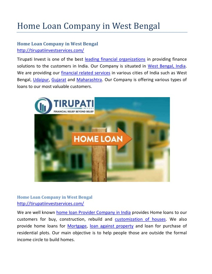 home loan company in west bengal n.