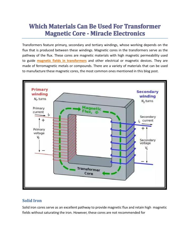 PPT - Which Materials Can Be Used For Transformer Magnetic Core